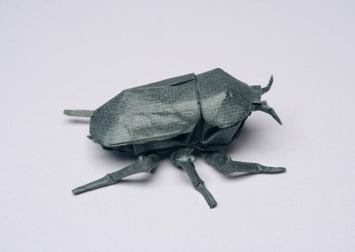 Picture of Chrysina Bettle Origami Design created by Lang