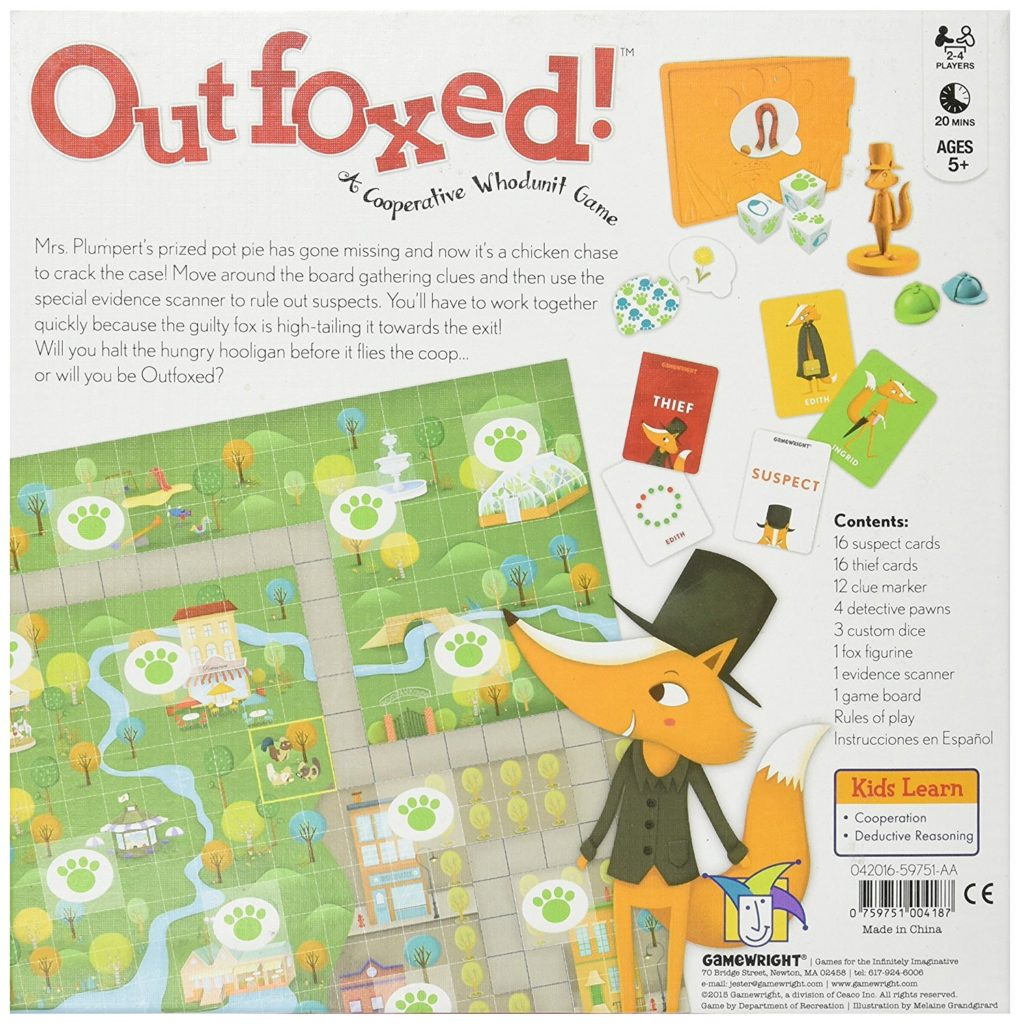 Outfoxed (Back of Box)