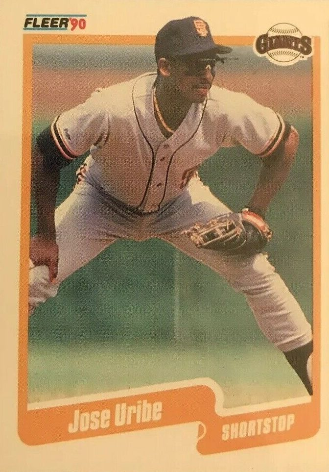 Jose Uribe 1990 Fleer